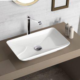 Κωδικός: 508-38060-300 Περιγραφή: νιπτήρας Διάσταση (εκ.): 60 x 37,7 Κατασκευαστής: Bianco Ceramica Σειρά: Σημείωση: Βάθος γούρνας 8 εκ. | Χωρίς υπερχείλιση Τοποθέτηση: επιτραπέζιος Υλικό: πορσελάνη Χρώμα: λευκό