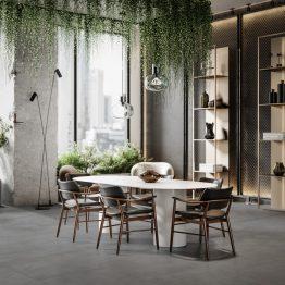 3D render of green office cafe