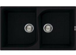 Γρανιτένιος Νεροχύτης με 2 γούρνες Διαστάσεις: 860×500mm Διαστάσεις γούρνας: 430×377×215mm+430×377×215mm Βάθος: 21.5 cm Περίμετρος οπής: 840×500 mm Ερμάριο: 90 cm Περιλαμβάνει κομπλέ σιφώνια και βαλβίδες, 35 χρόνια εγγύηση