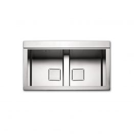 Διαστάσεις: 86x50 cm Βάθος: 24.5 cm Ερμάριο: 90cm Προετοιμασμένος για μπαταρία & αυτόματες βαλβίδες. Συμπεριλαμβάνονται: 2 x κρύσταλλα συρόμενα Silver ή Black, 2 x 'αόρατες' μονές Α/Β inox βαλβίδες, σωληνώσεις & λιποσυλλέκτης