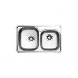 Διαστάσεις: 78x47,6 cm Βάθος: 17 cm Ερμάριο: 80 cm Με οπή για μπαταρία. Συμπεριλαμβάνονται βαλβίδες, σωληνώσεις & λιποσυλλέκτης
